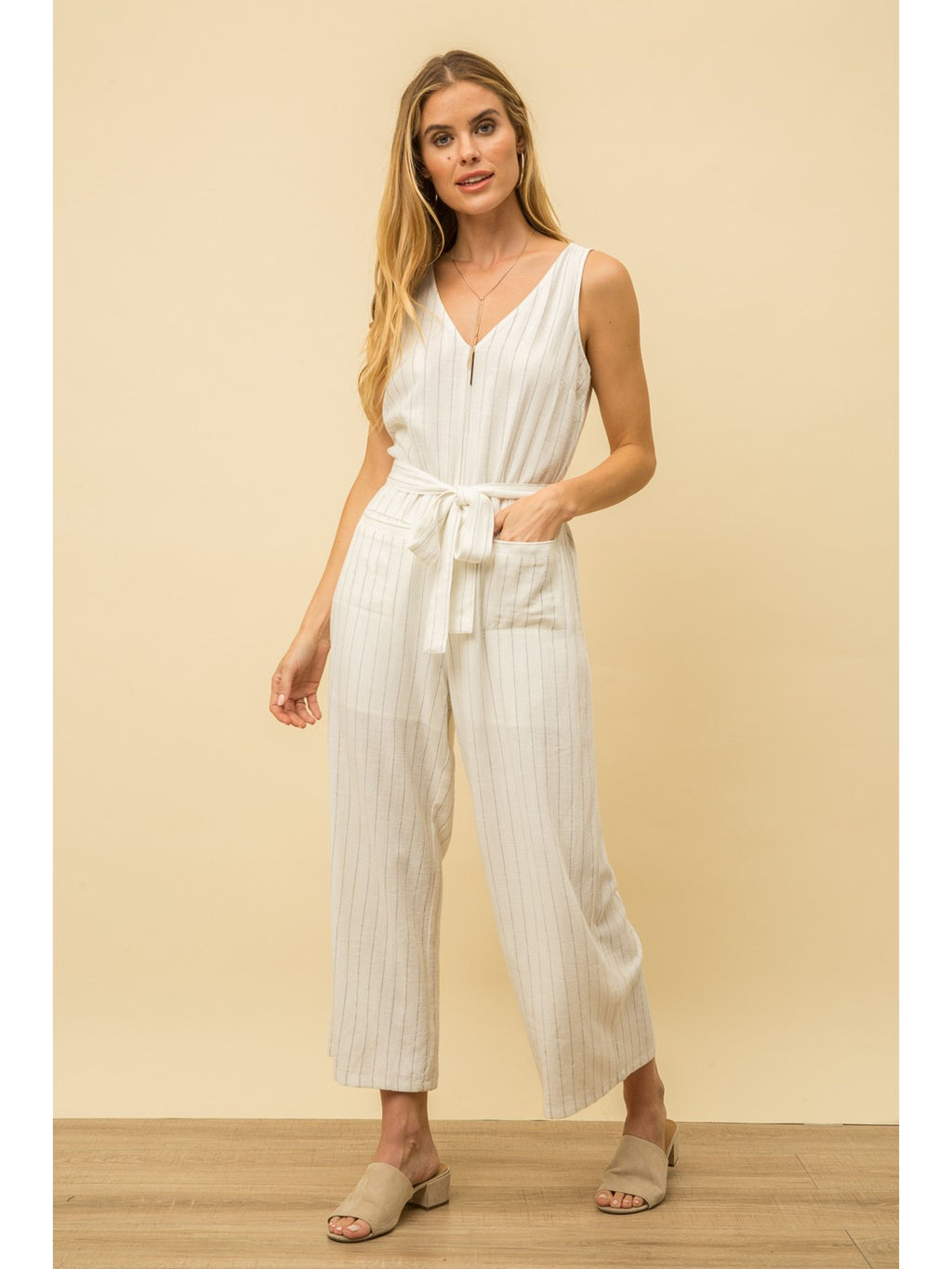 Liz Striped Jumpsuit