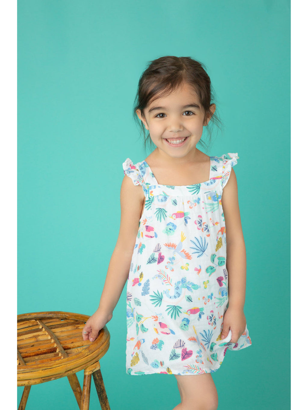 Tropical Birds Sundress and Diaper Cover