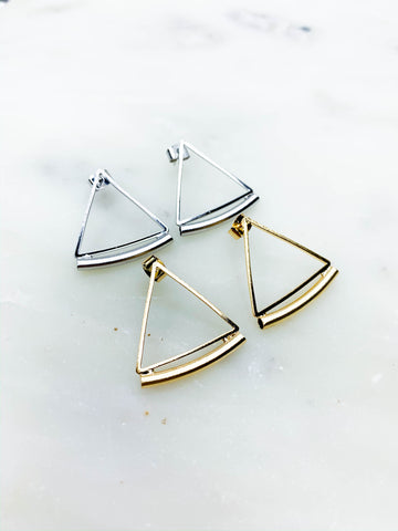 Raw Edge Teardrop Earrings