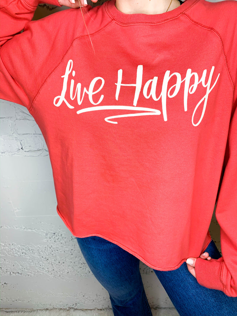 Live Happy Crewneck
