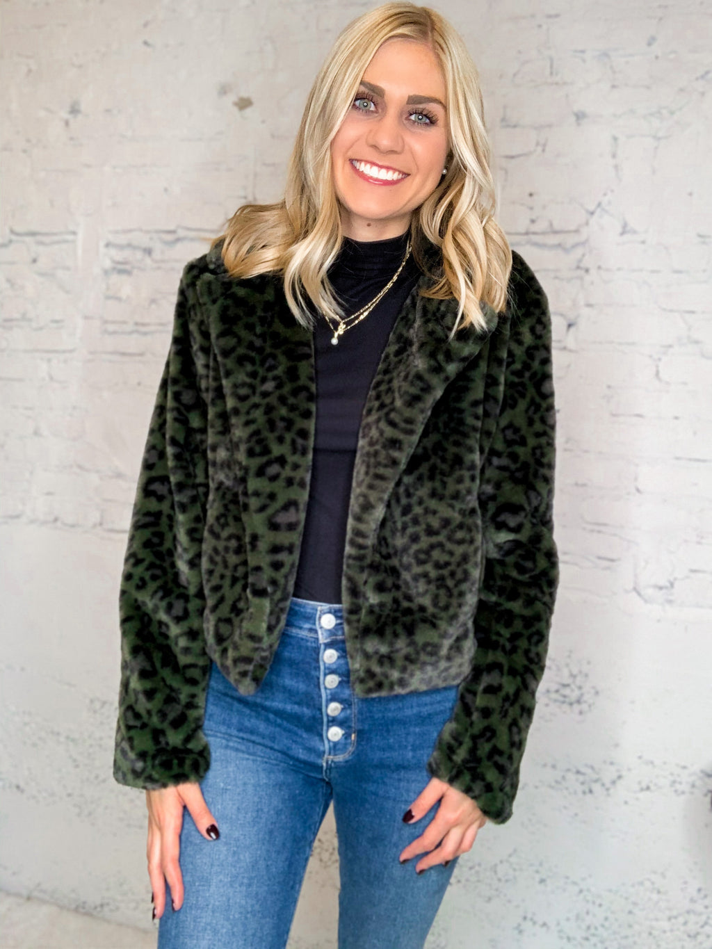 City Girl Leopard Blazer