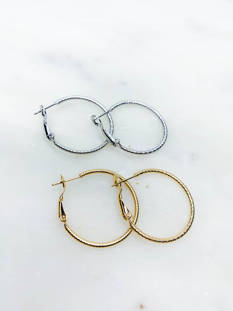 Wrapped Metal Hoops