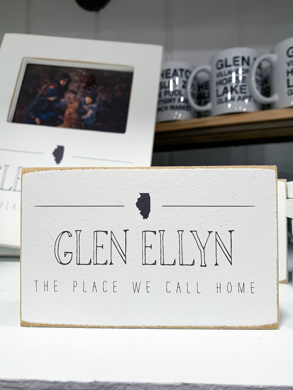 Glen Ellyn Mini Desk Sign