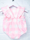 Leah Gingham Ruffle Sunsuit