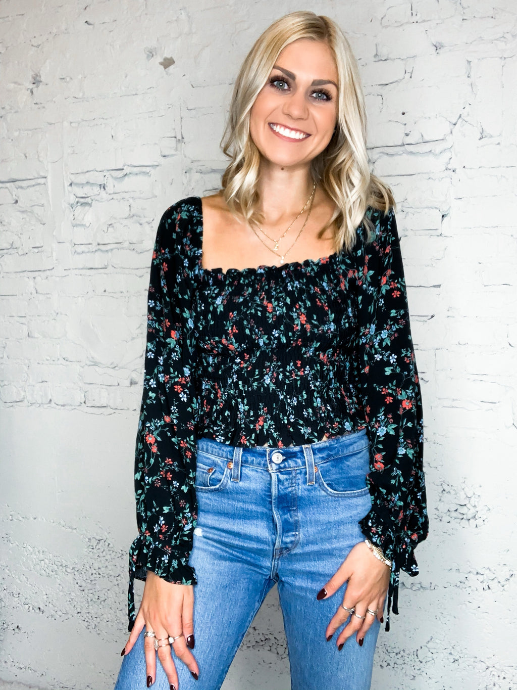 Perfect Floral Smock Top