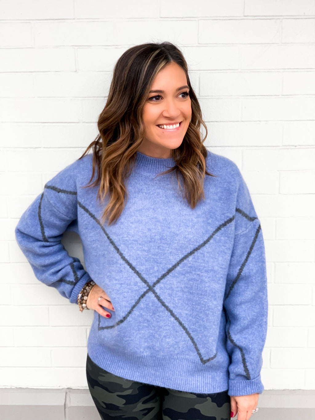 All the Blue Diamonds Sweater