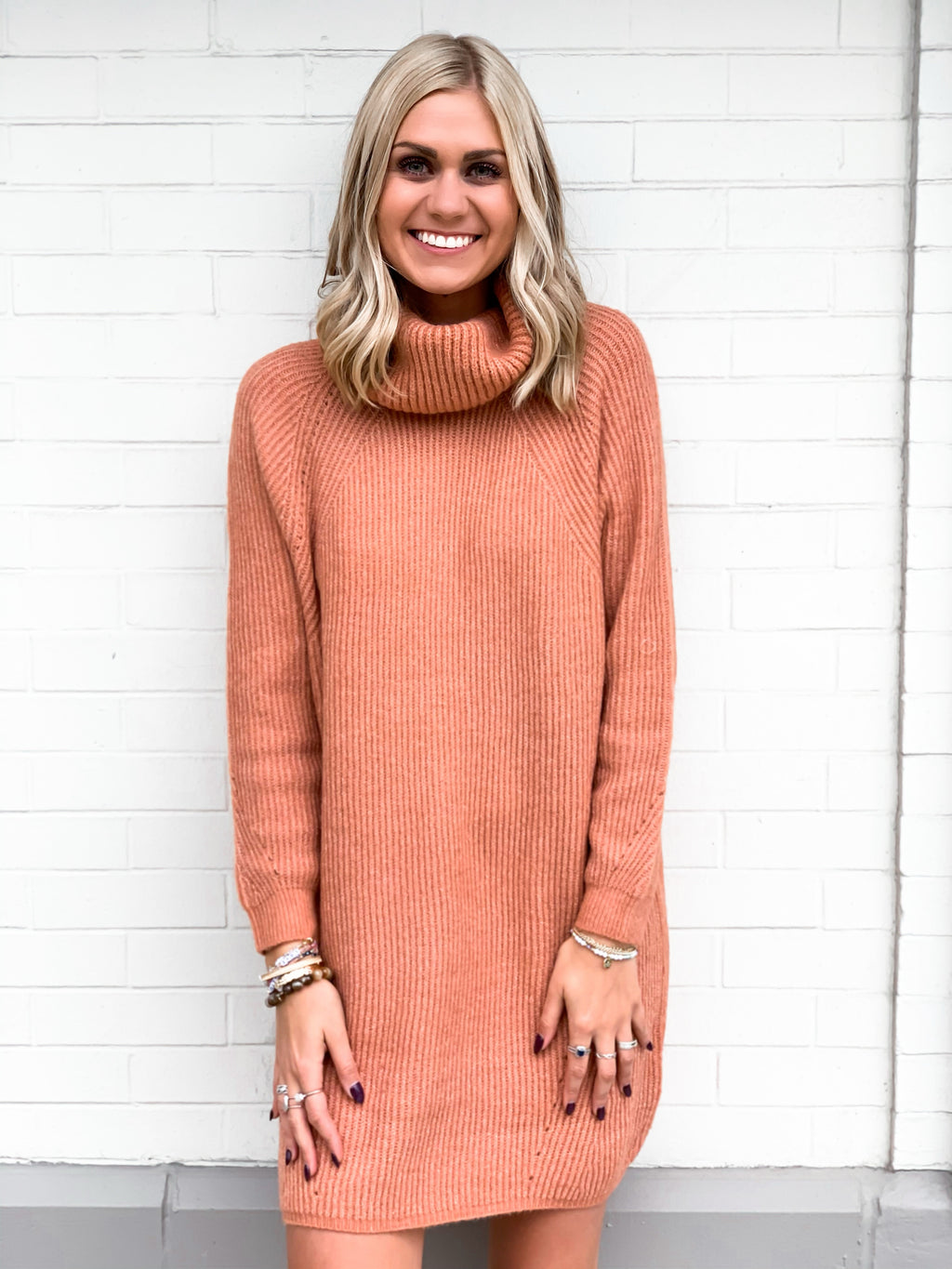 Sweet Cider Turtleneck Dress