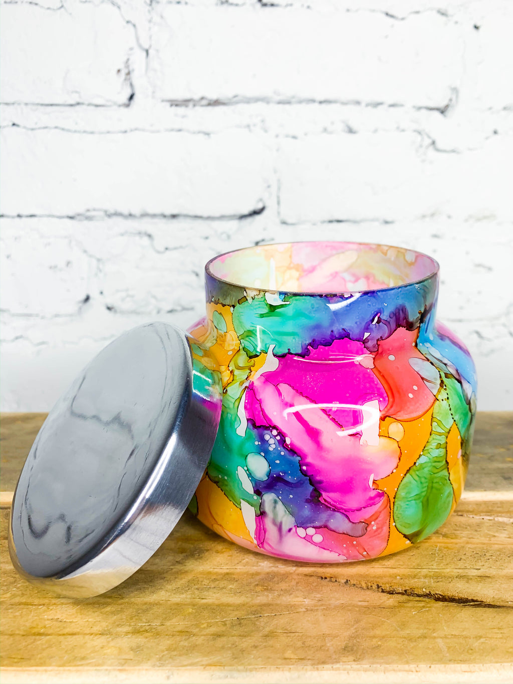 Watercolor Volcano Candle - 8oz.