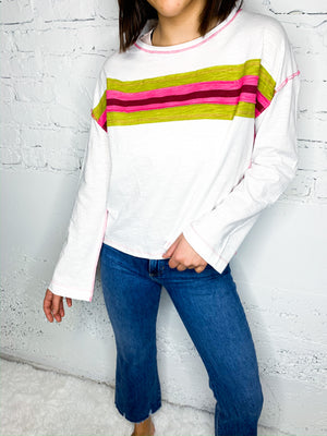 Mollie Striped Pullover