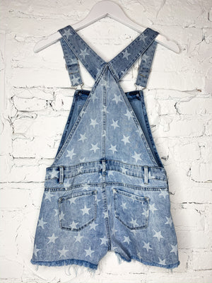 Summer Stars Denim Overalls