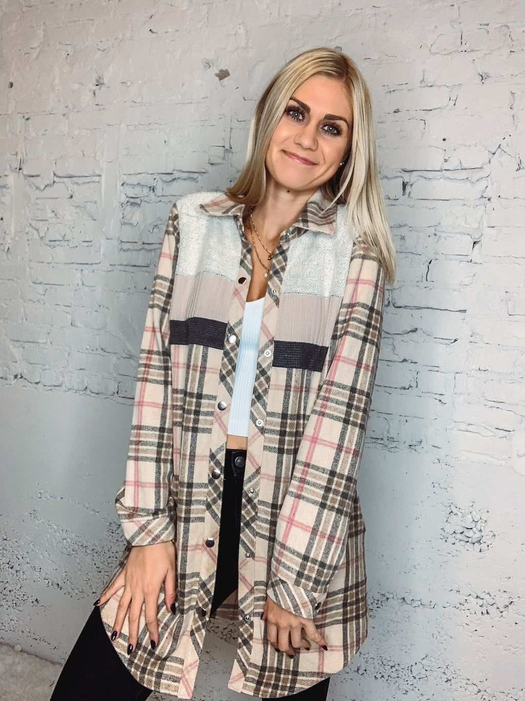 Holly Plaid Flannel Jacket/Dress