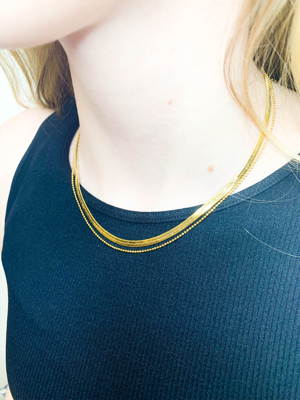Lara Layered Necklace - Gold