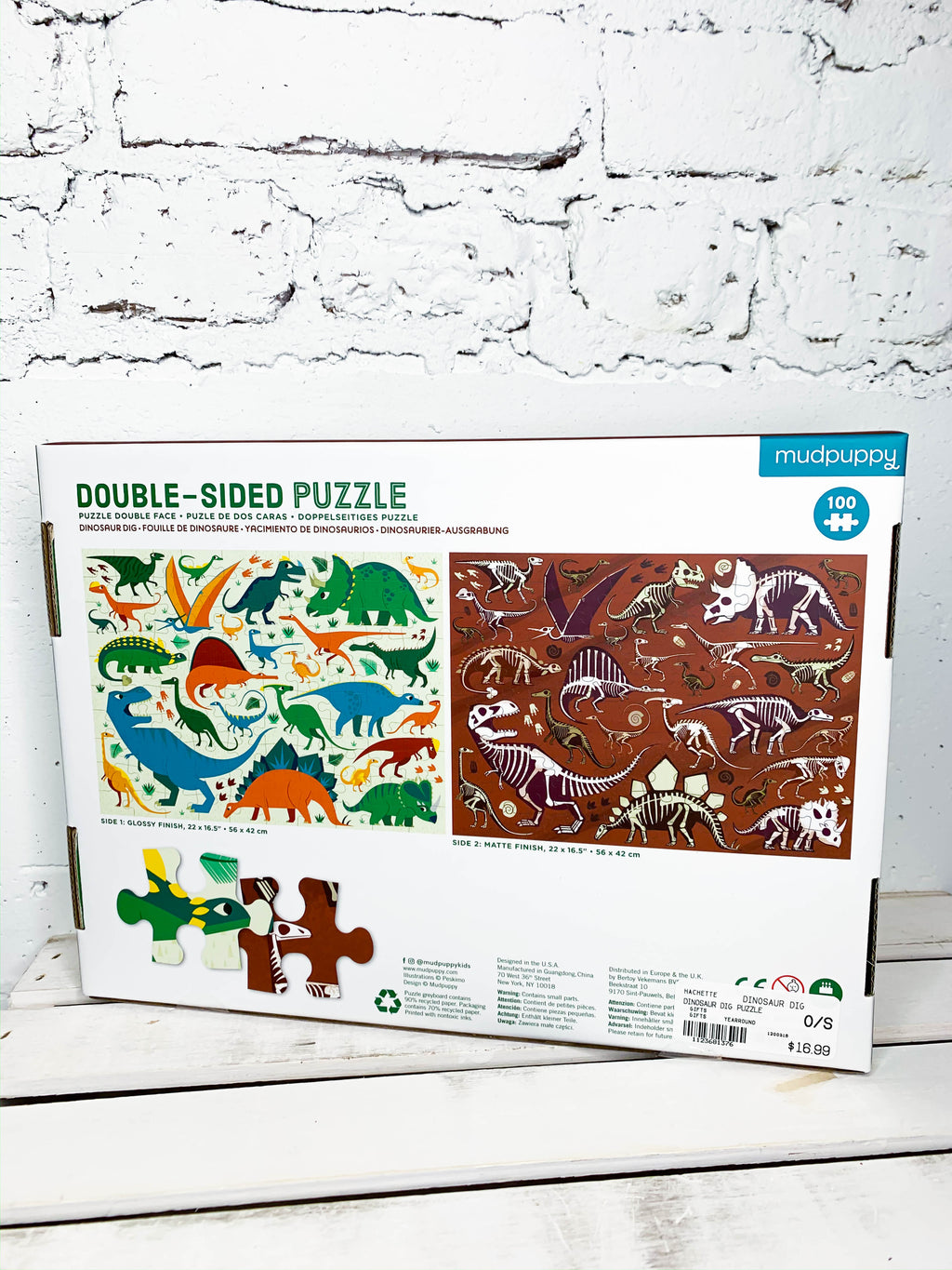 Double-Sided Dino Puzzle