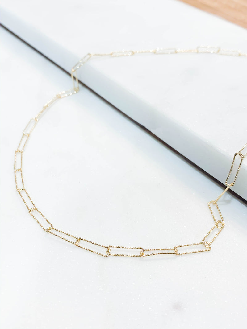 Dainty Link Necklace - Gold