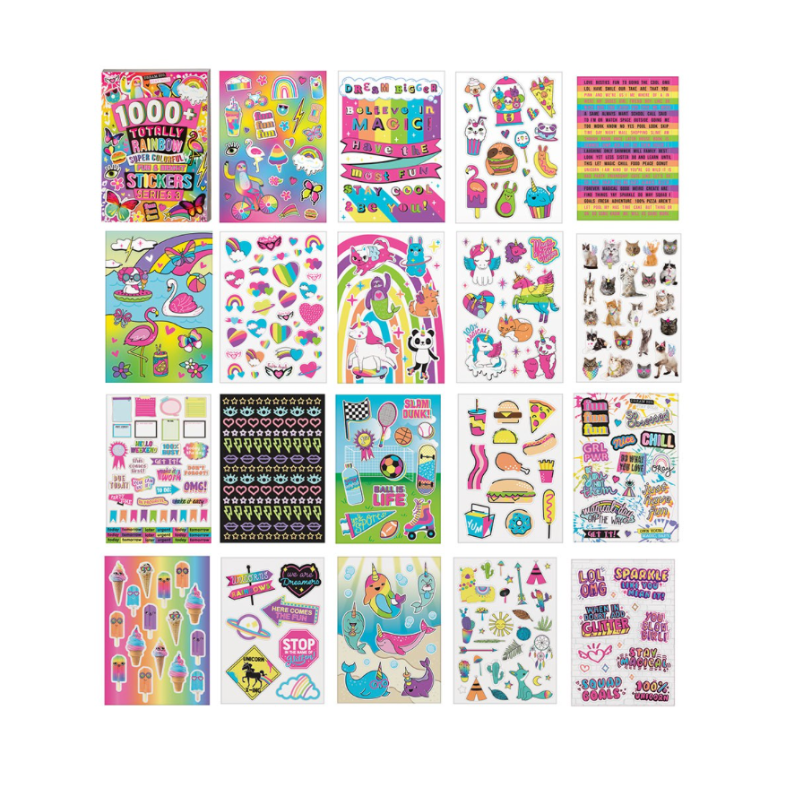 1000+ Neon Sticker Book