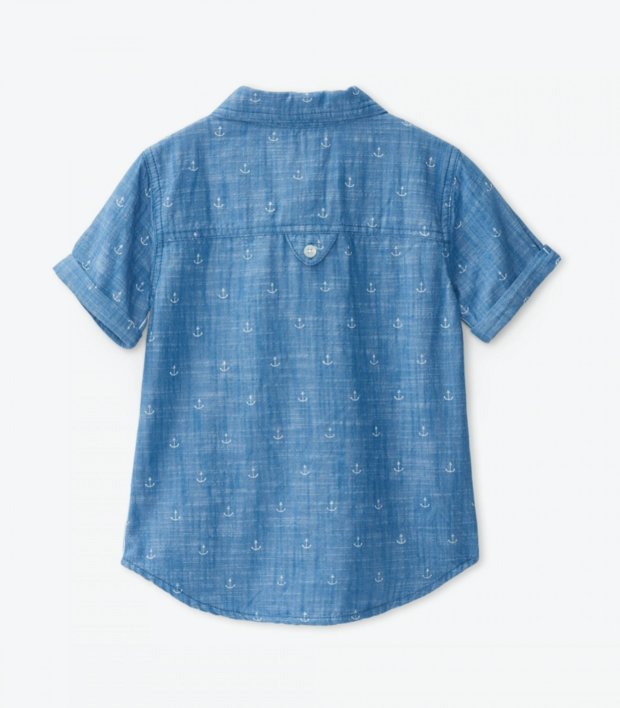 Charlie Chambray Anchors Button Down