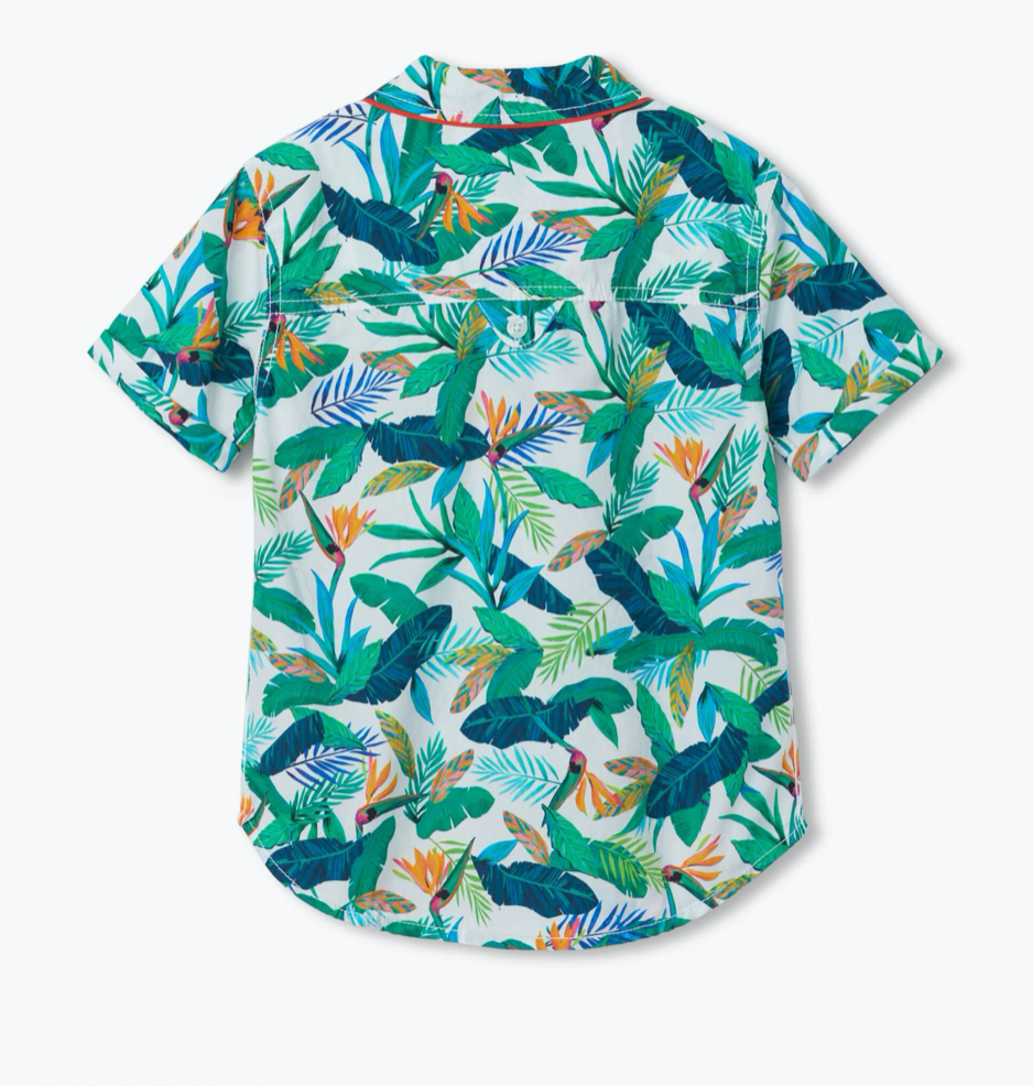 Tropical Adventure Button Down