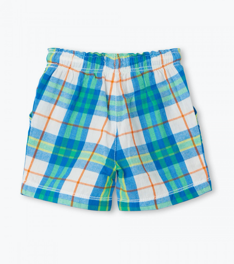 Tropical Plaid Woven Shorts