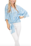 Blue Breezy Blouse