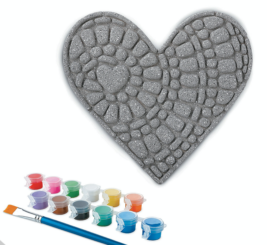 Paint Your Own Heart Stepping Stone