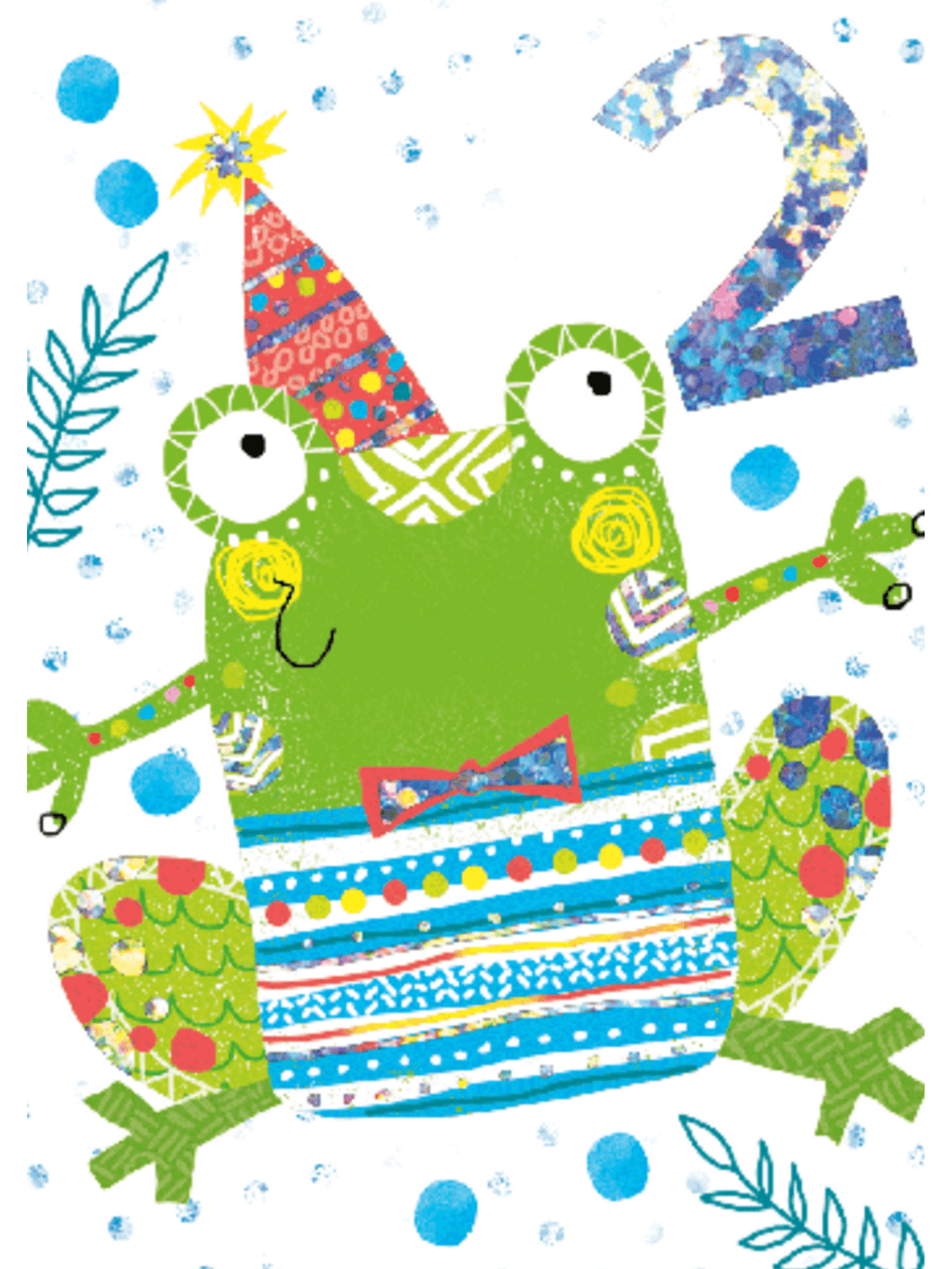 Frog 2nd Birthday - Card