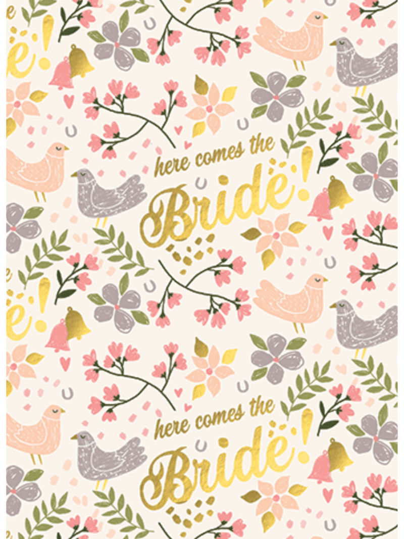 Here Comes The Bride - Card