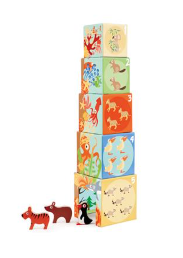 Stacking Towers Animal World
