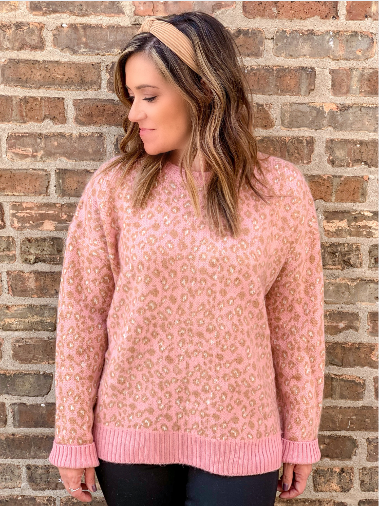 Candy Rose Leopard Sweater