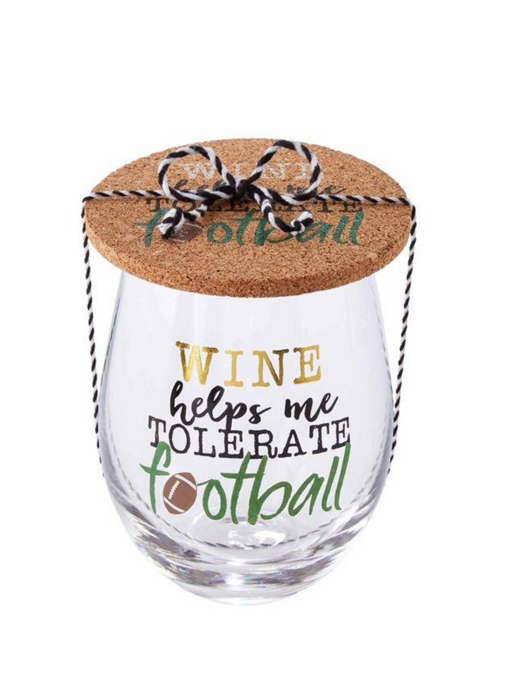 Tolerate Football Glass