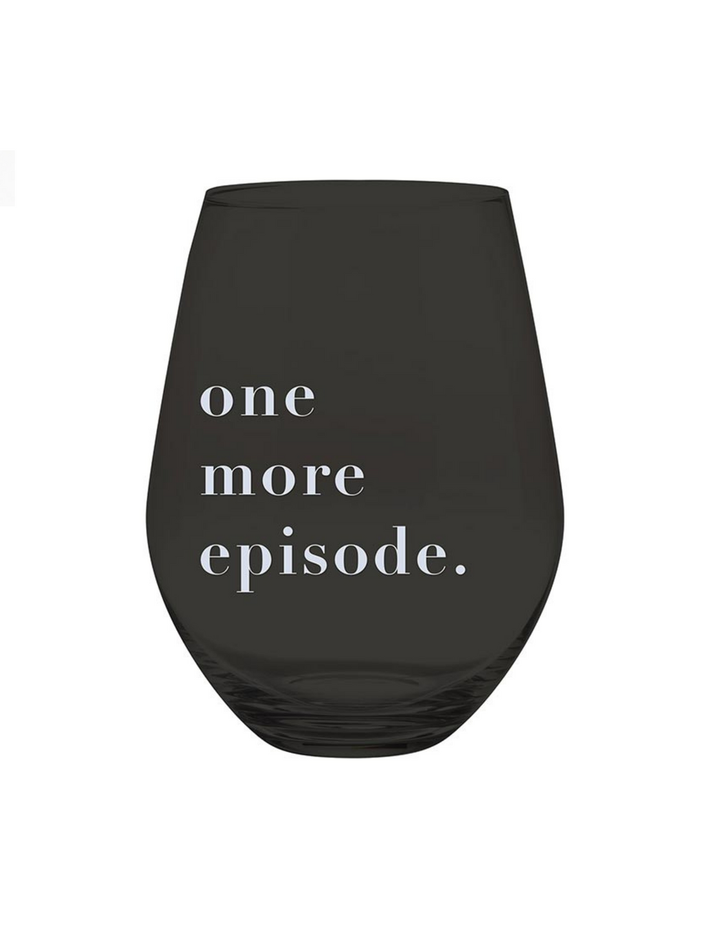One More Episode - Jumbo Wine Glass
