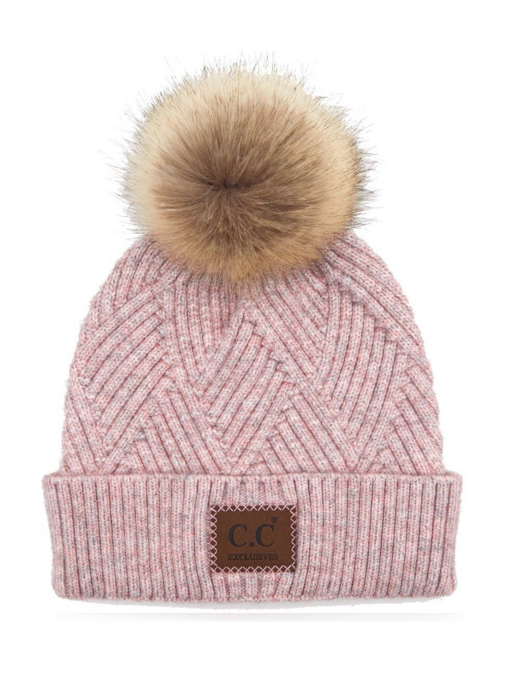 Rose Beanie with Pom