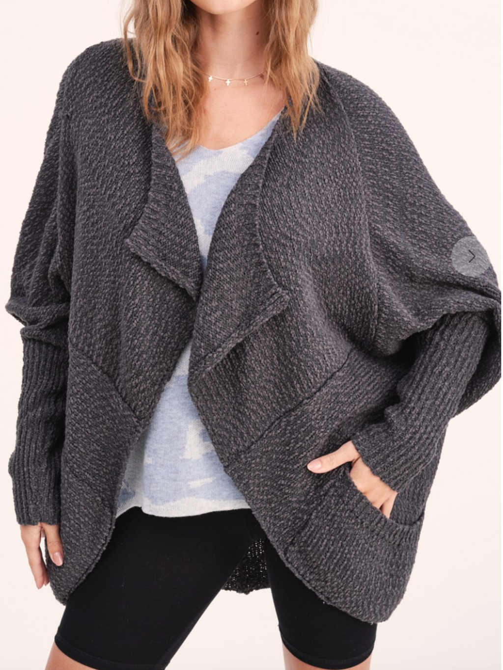 All Wrapped Up Cardigan - Charcoal