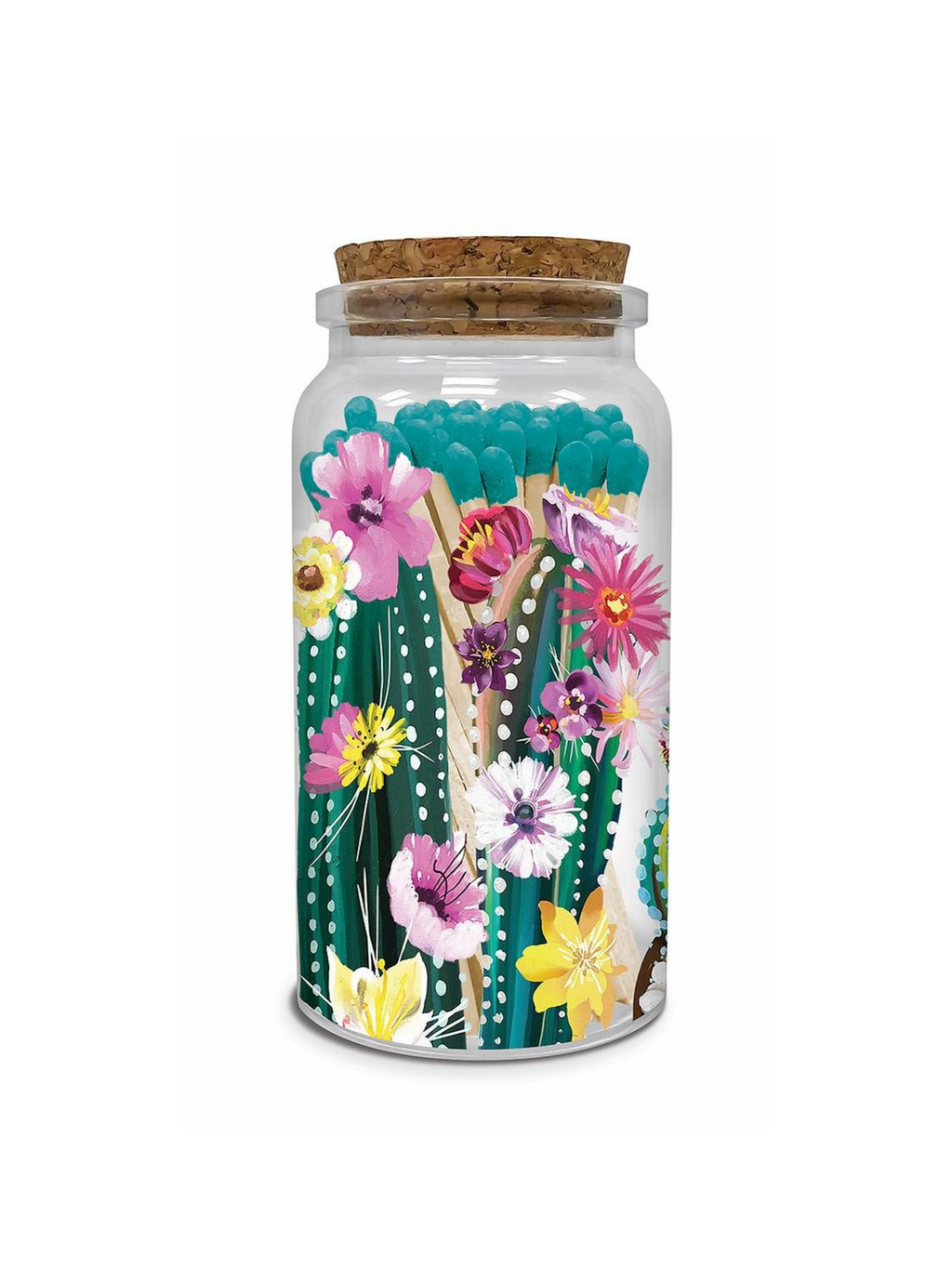Decorative Matches & Jar - Desert Blossoms