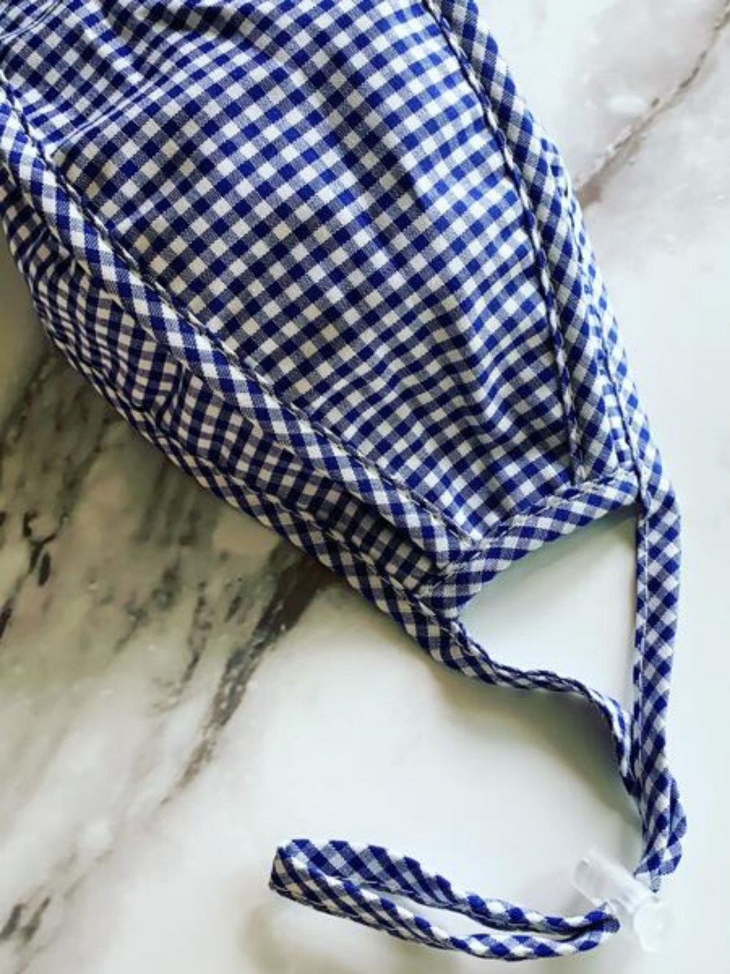 Protective Face Mask - Blue Gingham