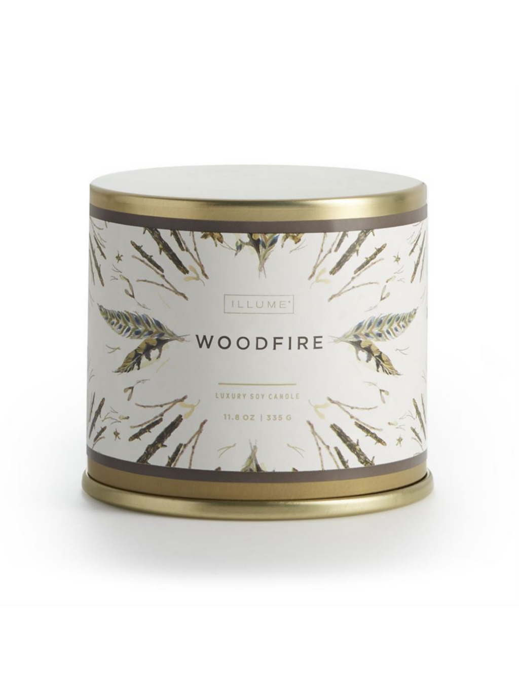 Woodfire Tin Candle