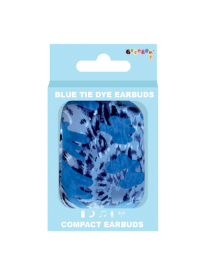Blue Tie Dye Ear Buds
