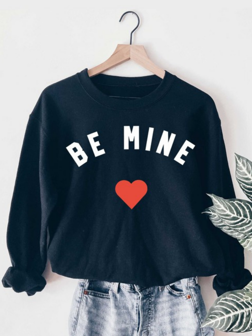 Be Mine Navy Sweatshirt