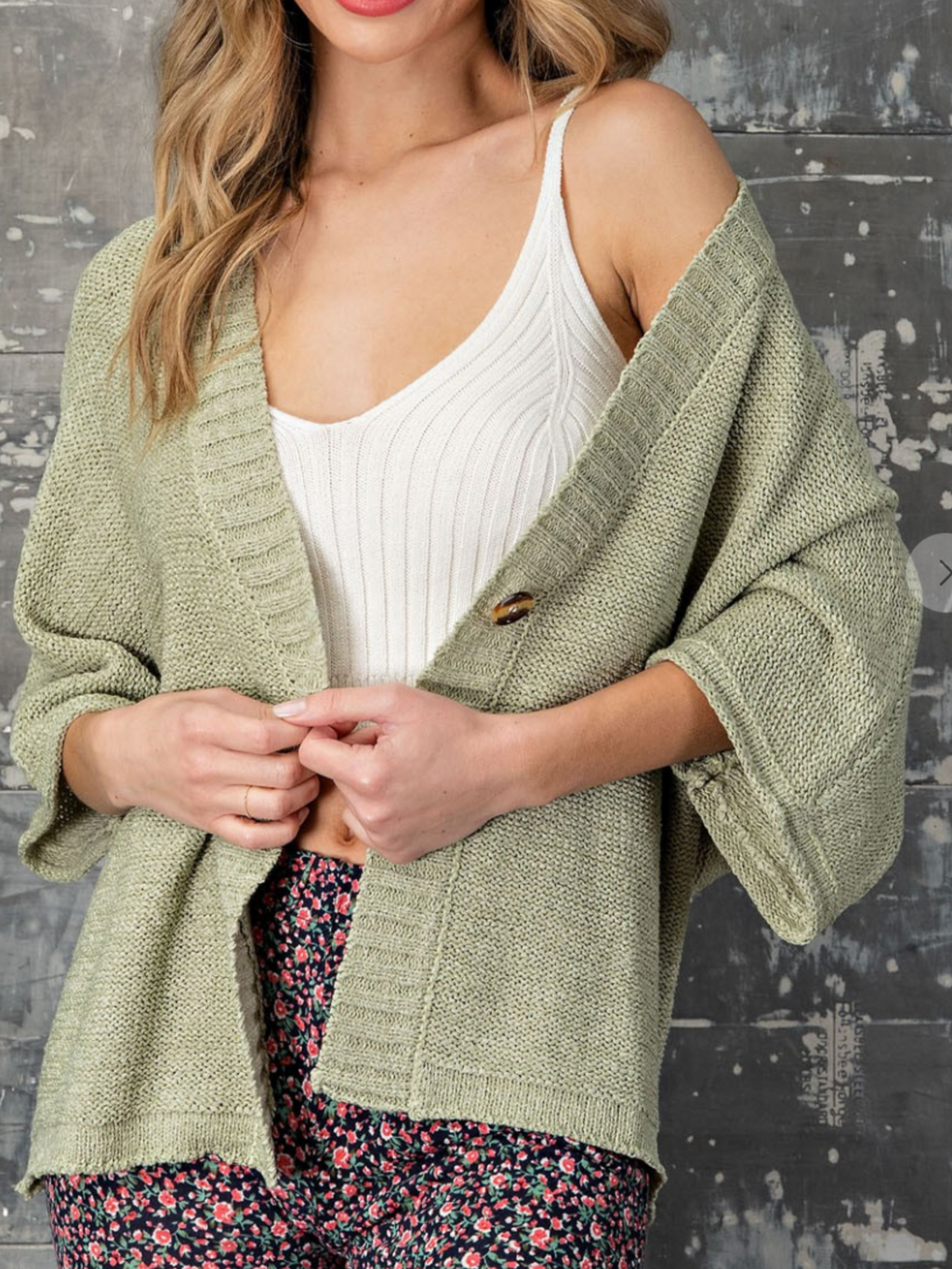 Veronica Sage Button Cardigan