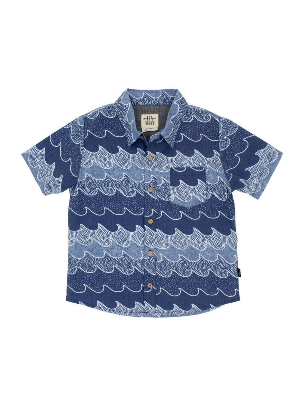 Navy Cosmic Button Down