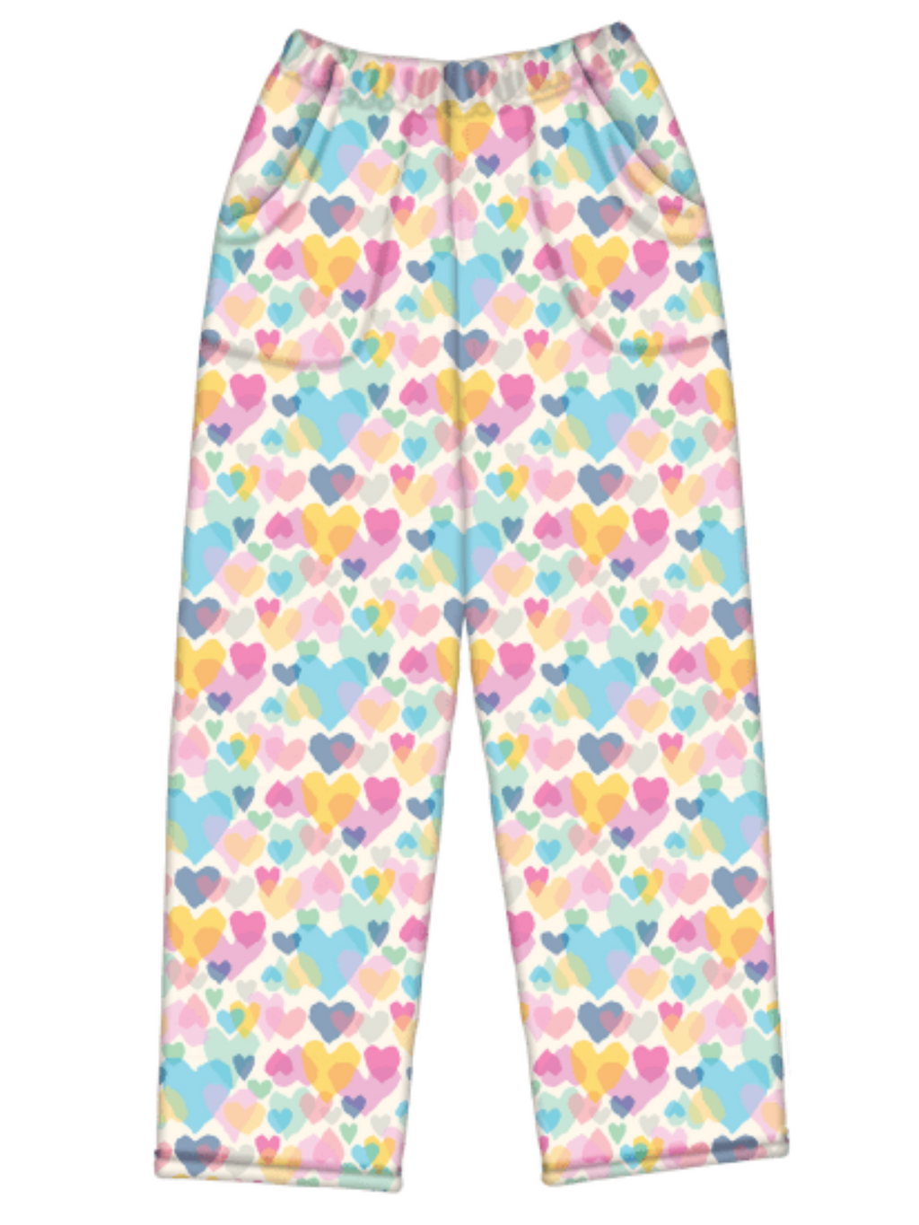 Pastel Hearts Fleece Pant
