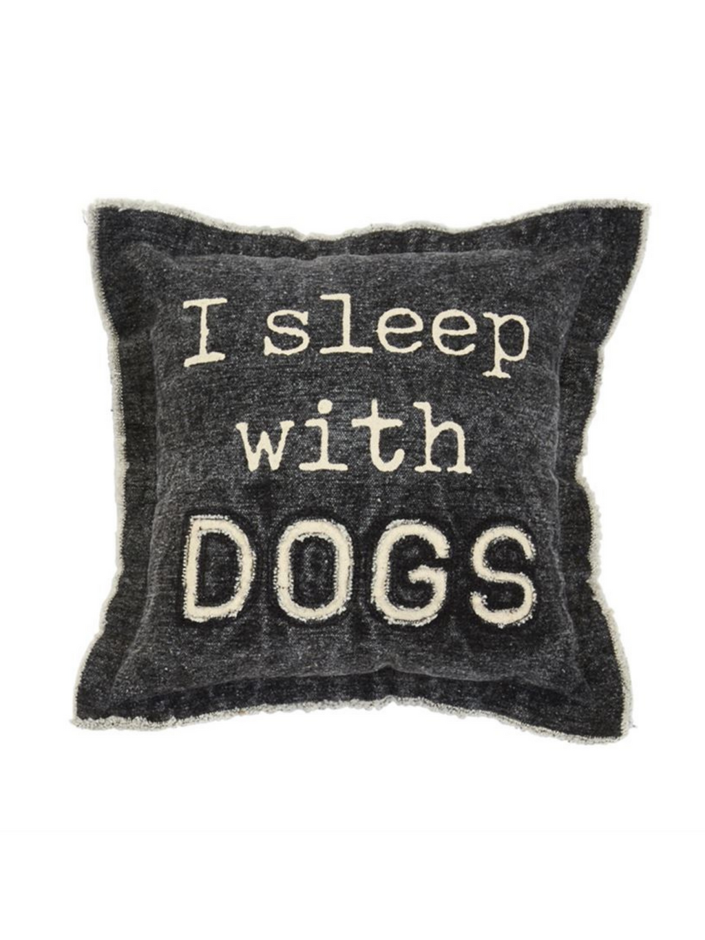 "Canvas ""Sleep Dog"" Pillow"