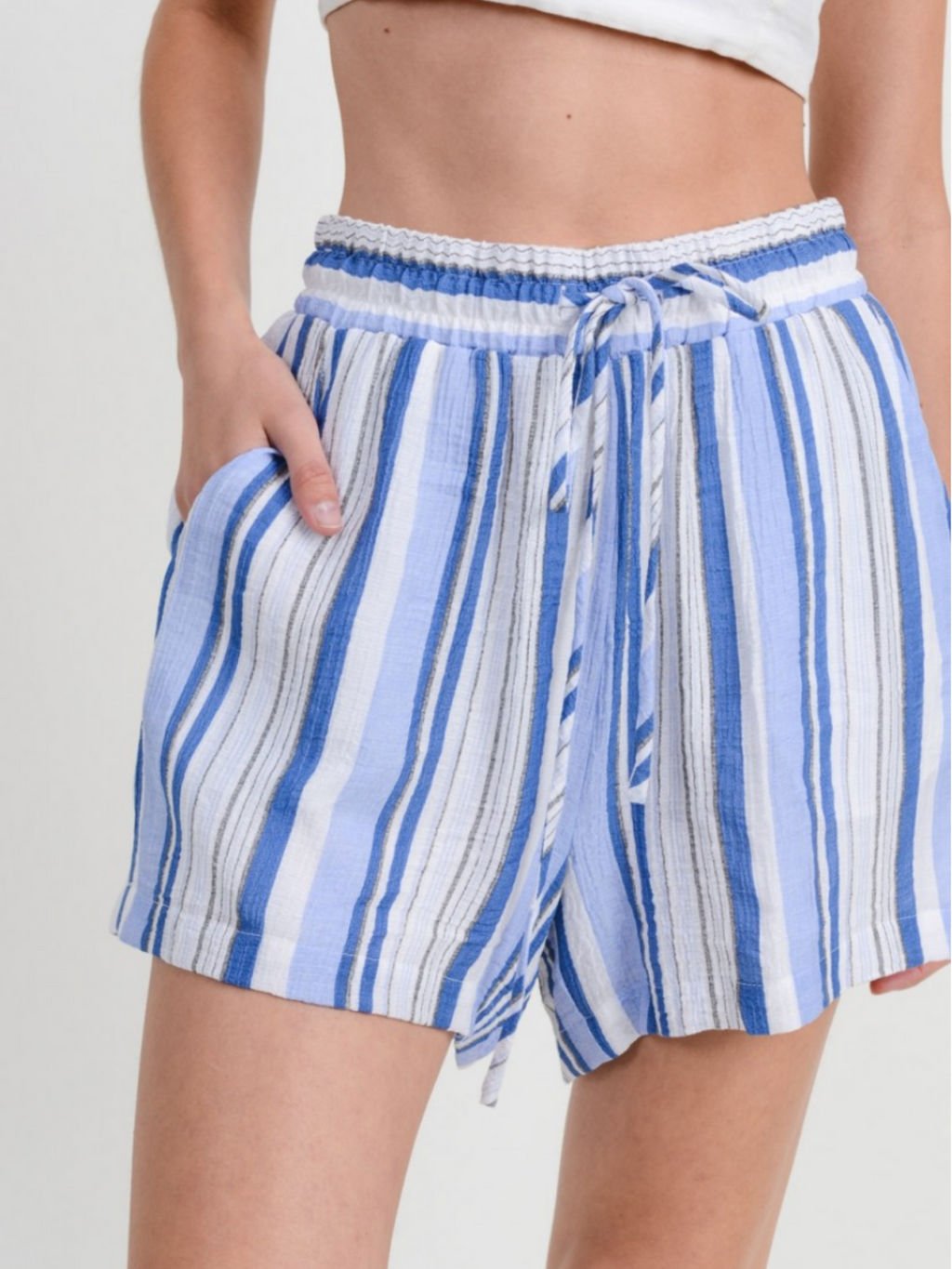 Coastal Waters Striped Short
