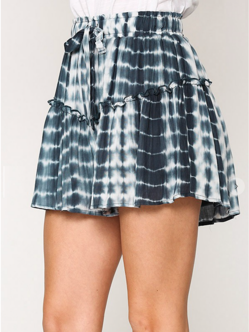 Willa Blue Ruffle Shorts