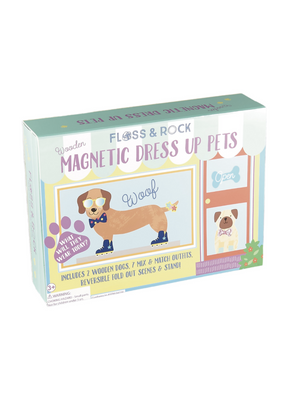 Wooden Magnetic Dress Up Pets