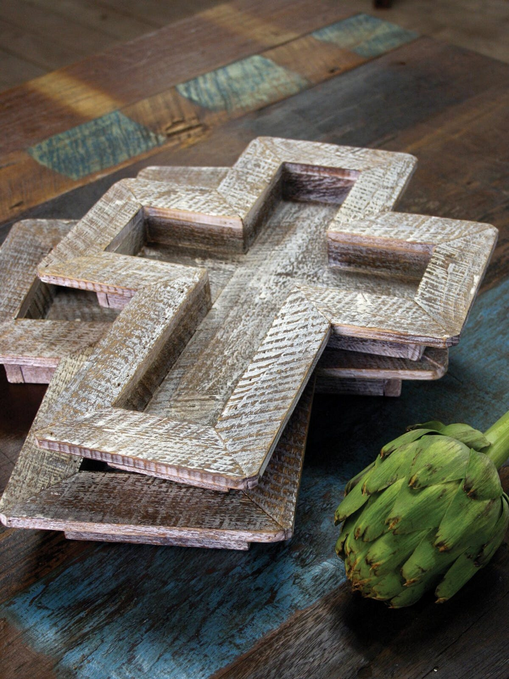 Wooden Cross Tray