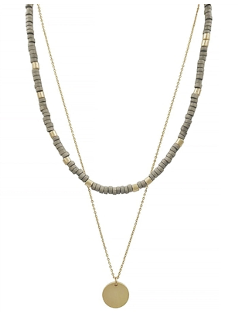 Kaya Beaded Layered Necklace