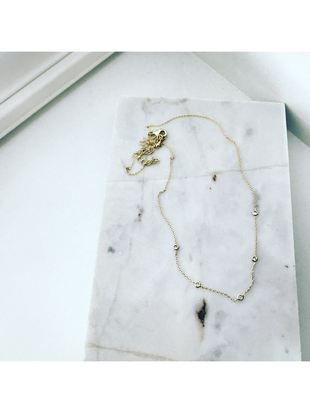 Floating CZ Necklace