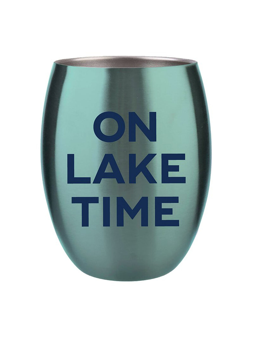 On Lake Time Stainless Steel Wine Tumbler