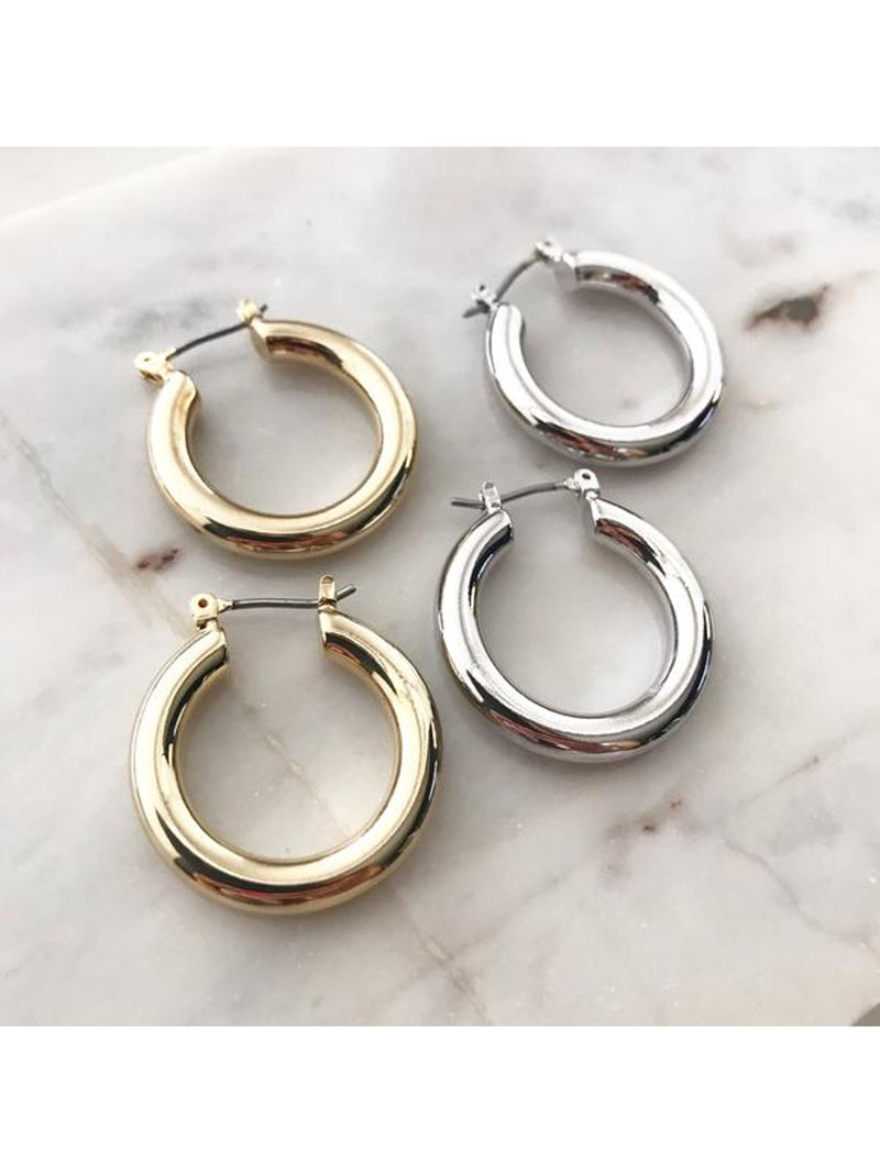 Classic Thick Hoop Earrings