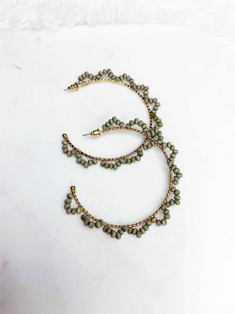 London Beaded Hoops